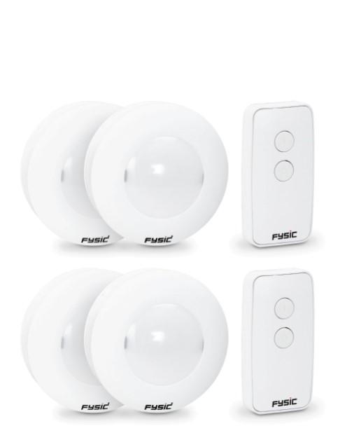 4 LED oriëntatielampjes met afstandsbediening Fysic FC-04